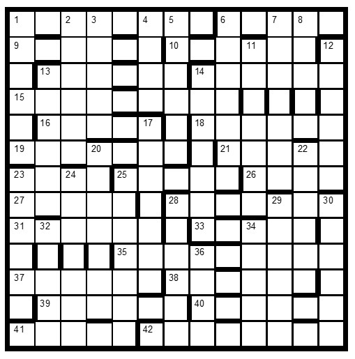 Crossword Centre Prize Puzzle June 2019